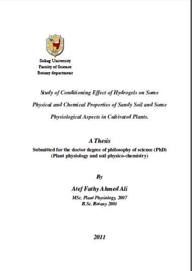 phd thesis on soil chemistry